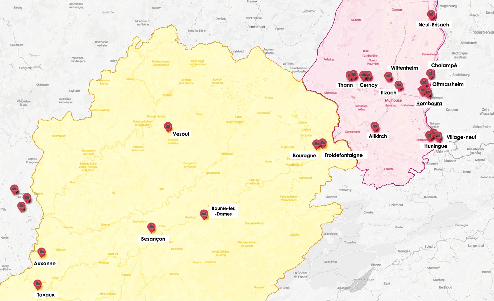 certe zones seveso risques des sites, rouens - Alsace - besançon- belfort - conseils ommobilier